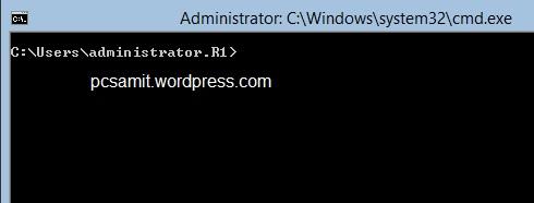 command promt server 2012